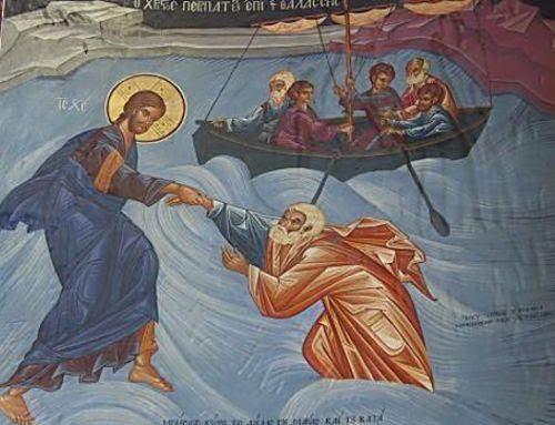 Αποτέλεσμα εικόνας για χριστοσ περπαταει στα κυματα