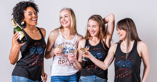 Custom 4th of July Bachelorette Party Shirts - Bridal Party Tees