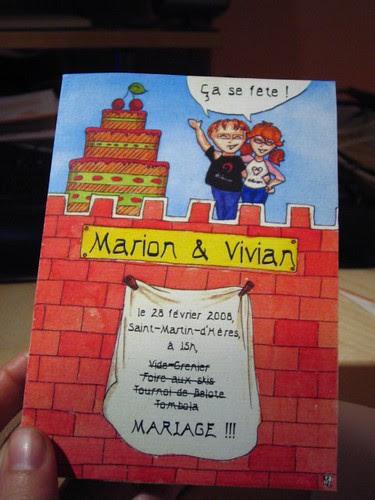 Wedding invitations, outside