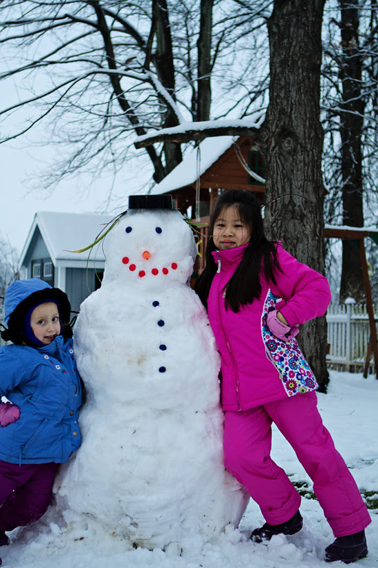blog 8 girls and snowman