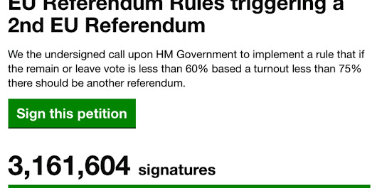 Petition For Second Referendum Investigated For Mass Fraud