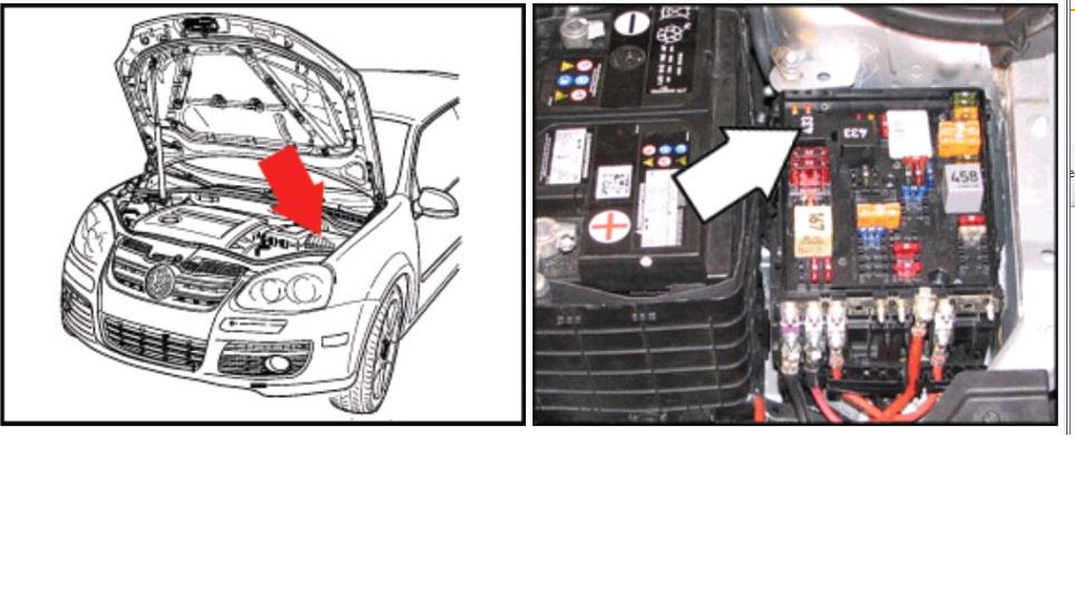 Volkswagen Jetta Battery Fuse Box