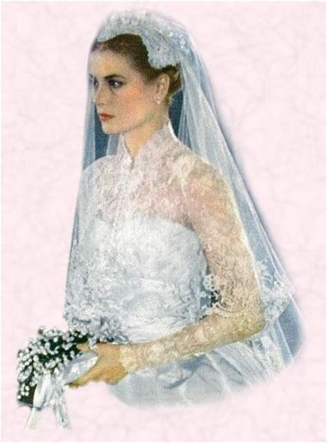 1956 Grace Kelly Wedding Dress   Royal Bride Princess