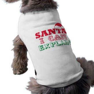 Santa Christmas Pet Clothing petshirt