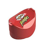 Jokari Pringles Single Serve Chips Travel Container - Lunch Snack Potato Chip Holder