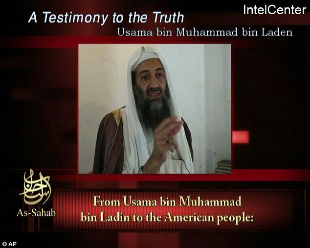 'Nothing to do with me': A 2006 video message, above, purportedly from Osama Bin Laden, featured a voice saying Moussaoui was nothing to do with 9/11