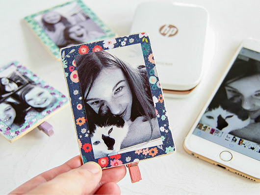 DIY Mini Clip-On Flower Frames - MyPrintly