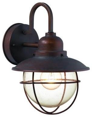 Hampton Bay Wall-Mount Outdoor Lantern - traditional - outdoor