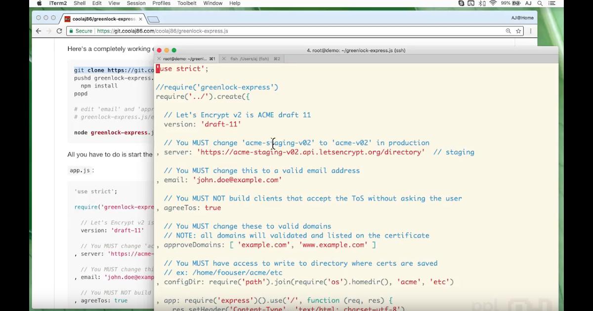 Enabling HTTPS on express js