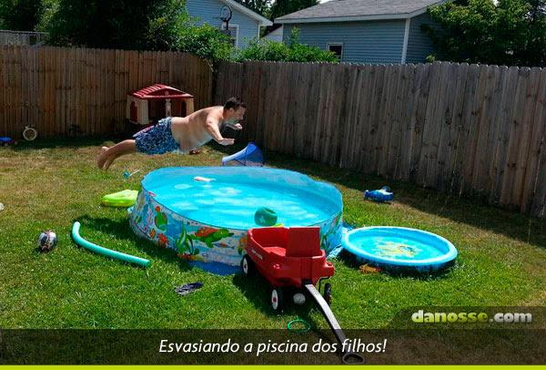 Esvaziando a piscina!