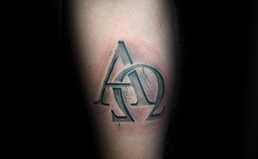 30 Alpha Omega Tattoo Designs For Men Greek Grandeur