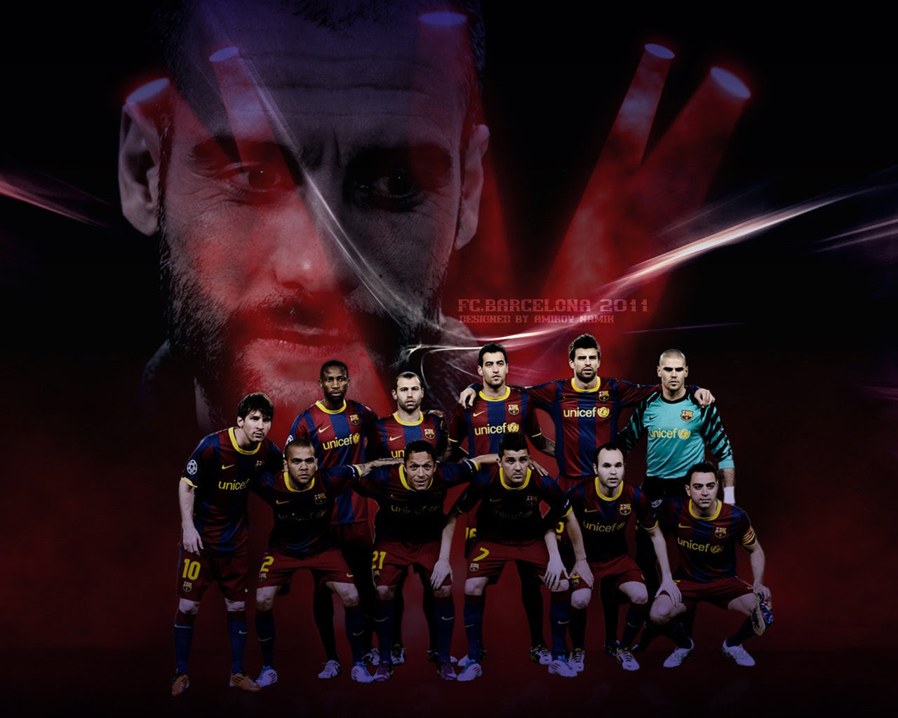 Line Up 2010 11 Fc Barcelona Wallpaper 22615409 Fanpop