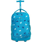 """J World Sunny 17"""" Rolling Backpack - Blue Puppy"""