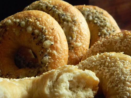 Sesame Bagels and Parmesan Black Pepper Bagels 2