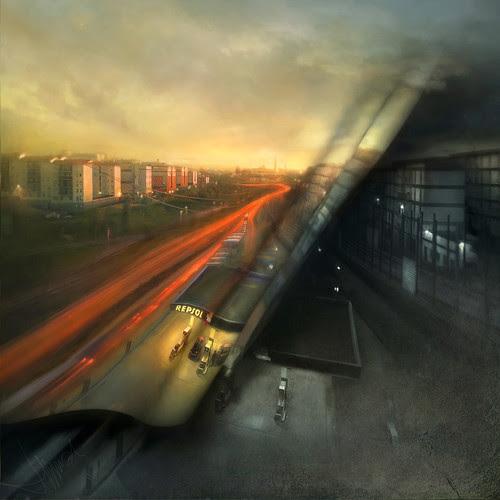 Como cada mañana, cuando la luz extiende las calles por el silencio