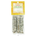 Triloka - Global Shaman Smudge Mini Sage, Cedar, Lavender - 3 Pack, White