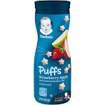 Gerber Graduates Puffs Cereal Snack, Strawberry Apple - 1.48 oz canister