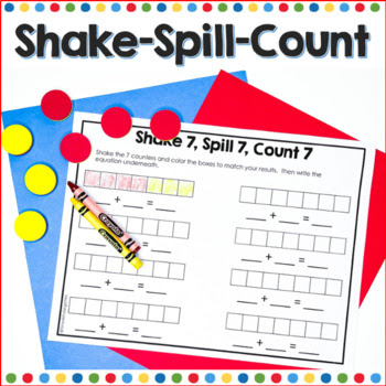 Counters to teach math shake and spill