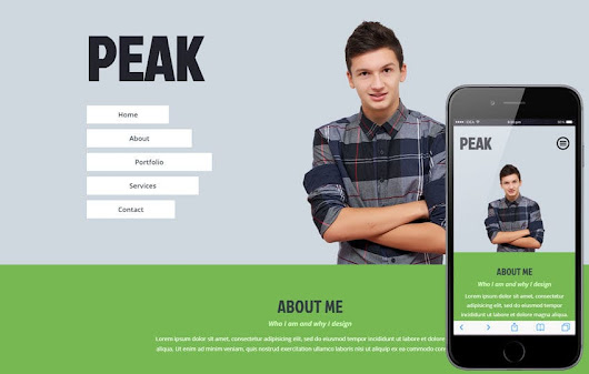 Peak a Personal Portfolio Flat Bootstrap Responsive Web Template by w3layouts