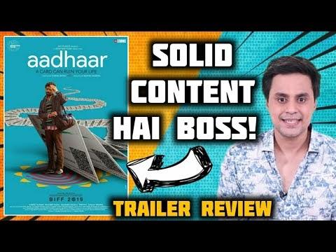 AADHAR Trailer Review   Manish Mundra   Saurabh Shukla   RJ Raunak   Baua