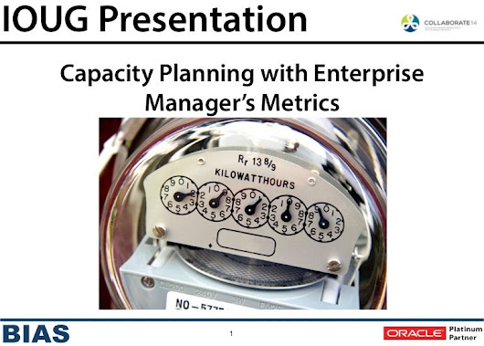 EM12c: Capacity Planning with OEM Metrics