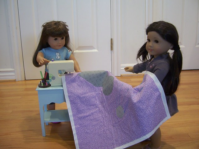 Lizzy and Melody quilting