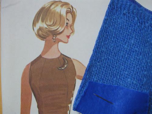 Vintage sheath and blue fabric