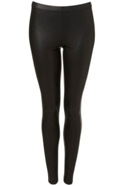 Topshop Wet Look Leggings