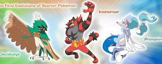 Final evolutions of new starters revealed plus more!