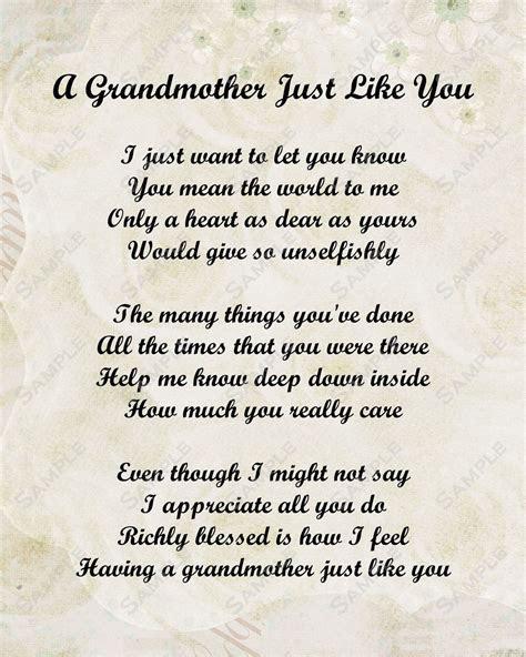 Grandmother Poem on Pinterest   Grandmother Quotes