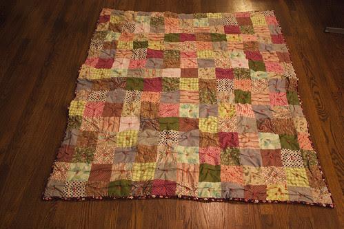 patchwork quilt - after shrinking