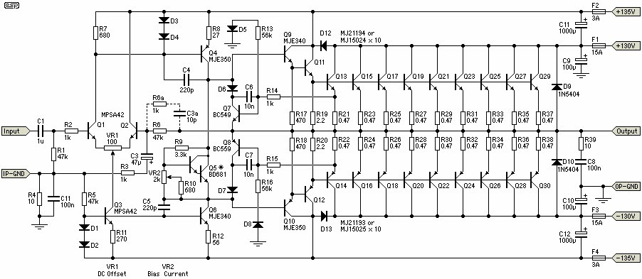 Ahuja Power Amplifier Circuit Diagram Circuit Diagram Images