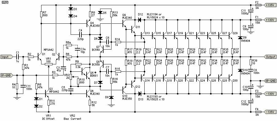 Ahuja Power Amplifier Circuit Diagram
