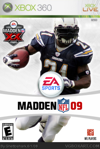 Madden NFL 09 Xbox 360 Box Art Cover by Ghettoshark