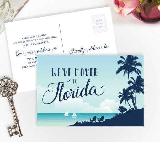 We've Moved to Florida cards | Personalized Moving Cards