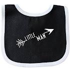 Little Man Arrow Baby Bib Black/White One Size