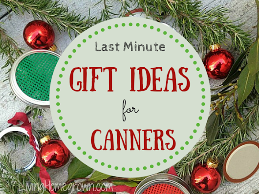 Last Minute Gift Ideas for Canners