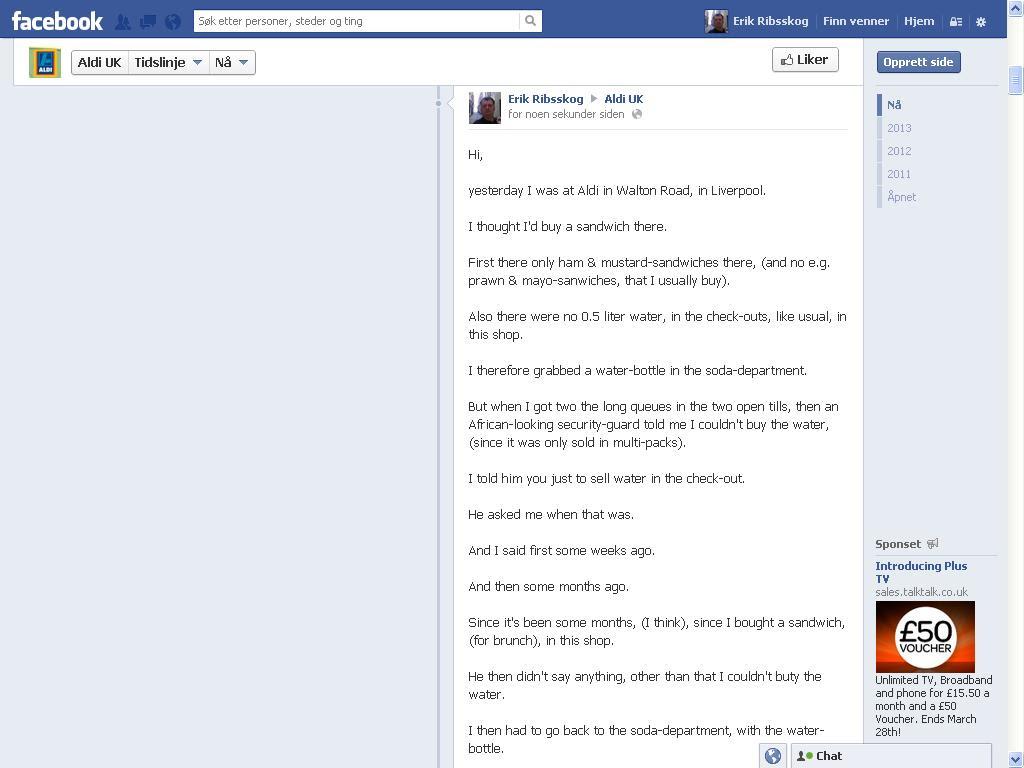 aldi facebook side