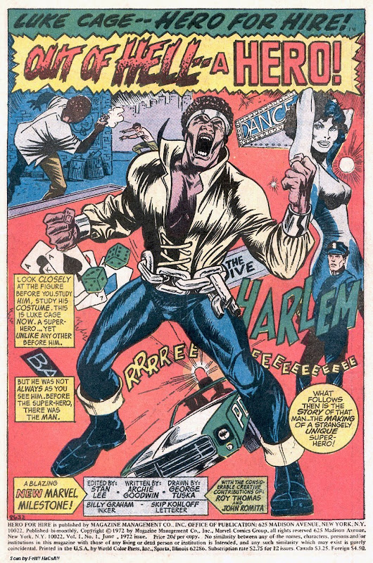 Sweet Christmas! The Creation of Luke Cage, Hero for Hire @ Comics Bulletin