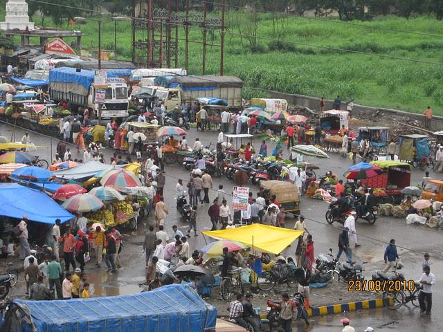 Sunday Bazaar at Dange Chowk, Aditya Birla Hospital Hinjewadi Road, PCMC, Pune