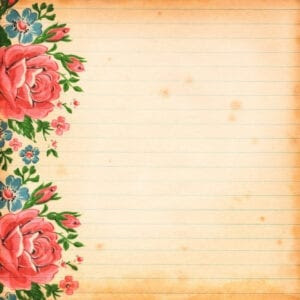 Free Vintage floral Digital Scrapbooking Paper  by FPTFY 5