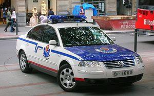 Volkswagen vehicle of Ertzaintza (Police of th...