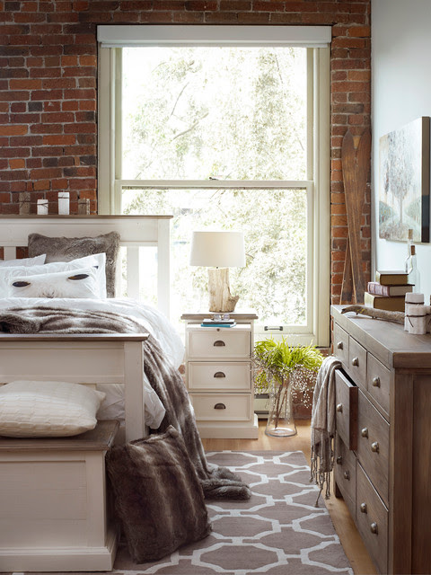 Modern Country Bedroom - Contemporary - Bedroom - other ...