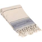 Amber Linen Turkish Towel / Throw, Indigo