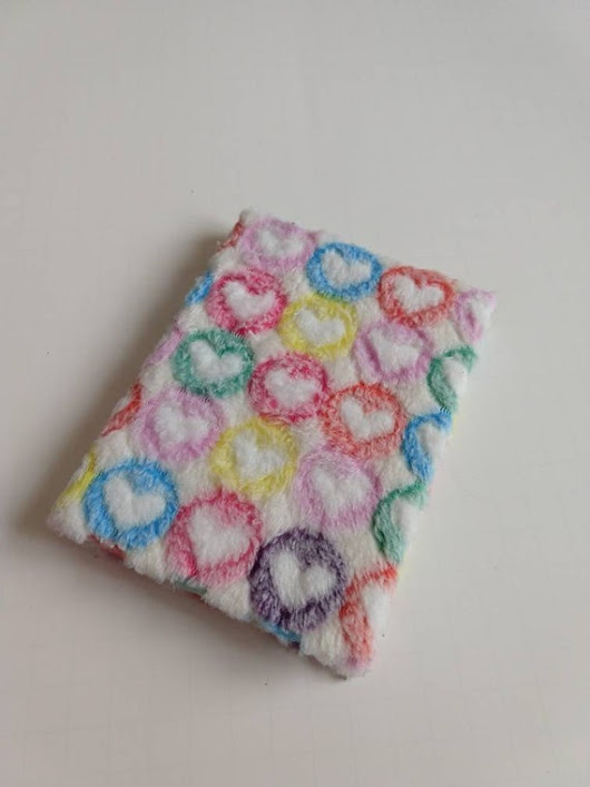 Fuzzy Heart Notebook / Heart Notebook / Fuzzy Hearts / Fuzzy Notebook / Fuzzy Notebook Cover / Hard Cover Notebook / Notebook / Heart Design