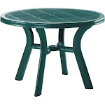"Compamia Truva 42"" Round Resin Patio Dining Table in Green"