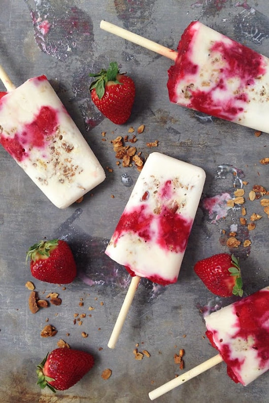 Yogurt Parfait Breakfast Popsicles » Feast + West