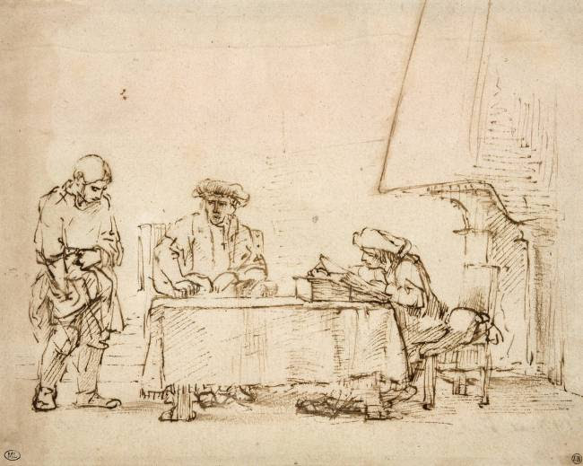 La parabole des talents (Rembrandt Harmensz van Rijn, 1650)