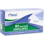 "Mead Security Envelope - Security - #6 3/4 [6.50"" X 3.63""] - 20 Lb - Gummed - Wove - 80/box - White (MEA75212)"
