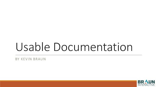 World Usability Day 2014 - Keene State College - Usable Documentation…